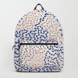 Trendy threads 01, navy blue and peach Backpack