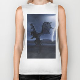 Dragon in the darkness Biker Tank