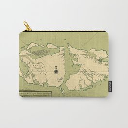 Map Of Falkland Islands 1700 Carry-All Pouch