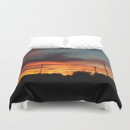 Country Sunset 2 Duvet Cover