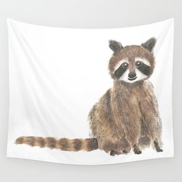 baby raccoon watercolor Wall Tapestry