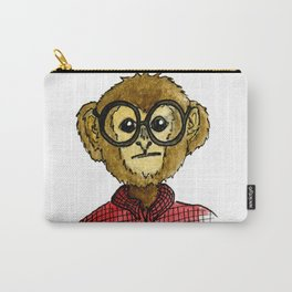 The Monkey with the Round Glasses Carry-All Pouch
