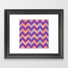 Pastel Chevrons Framed Art Print