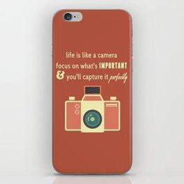 Life is Like a Camera iPhone Skin