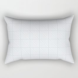 optical art pattern squares in white and a pale icy gray Rectangular Pillow