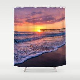 Sunset & Foamy Wave Shower Curtain