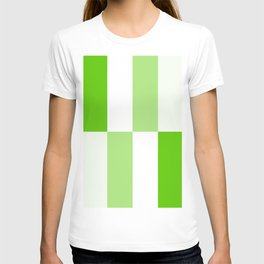 Green and White Gradient Blocks T-shirt
