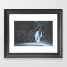 Emerging waterfall after the flood Framed Art Print