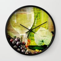 wine Wall Clocks featuring Wine by ThePhotoGuyDarren