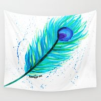 indigo Wall Tapestries featuring Indigo by N. Rogers Fine Art