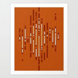 Sunset Dream – Orange / Yellow / Red Abstract Art Print