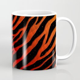 Ripped SpaceTime Stripes - Orange/Red Coffee Mug