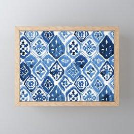Arabesque tile art Framed Mini Art Print