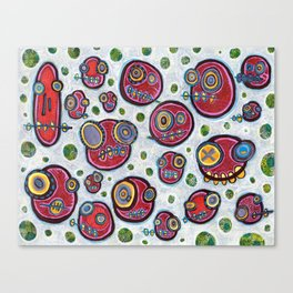Polka-Dot-Peepul Canvas Print