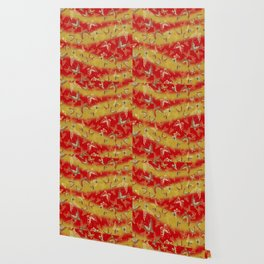 Red and Gold butterflies pattern Wallpaper