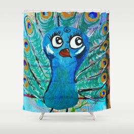 Pearl - Quirky Bird Series Shower Curtain