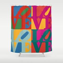 Love Pop Art Shower Curtain