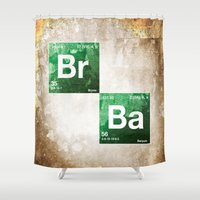 chemistry Shower Curtains featuring BrBa chemistry by Nxolab