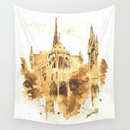Gothic Notre Dame Wall Tapestry