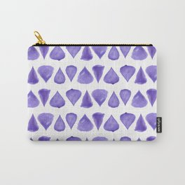 Teardrop Pattern Brush Graphic Artwork Ultra Violet Love Carry-All Pouch