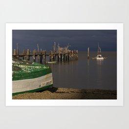 Boats and Dock Art Print