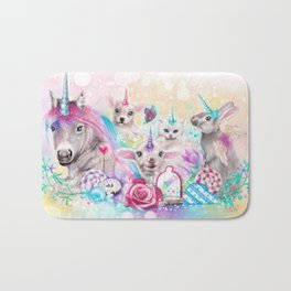 We All Just Want to be Unicorns Bath Mat