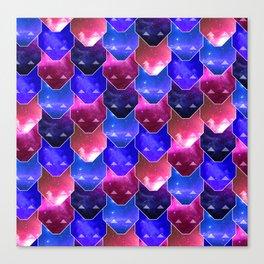 Cat Face Pattern Canvas Print