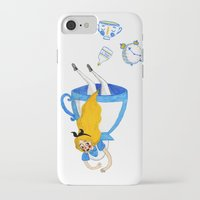 alice wonderland iPhone & iPod Cases featuring Wonderland by Bethany Grace