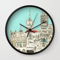 toronto Wall Clocks featuring Toronto by Nayoun Kim