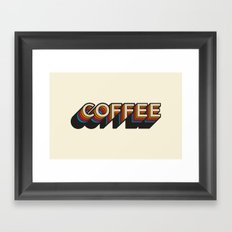 Trippy Coffee Framed Art Print