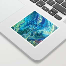 Fluid Nature - Marine Odyssey - Abstract Acrylic Art Sticker