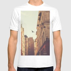 Two MEDIUM Mens Fitted Tee White