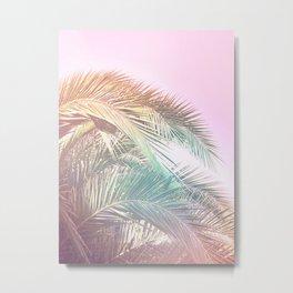 Wild palm leaves Nostalgia Metal Print