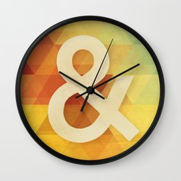 Avant Garde Ampersand Wall Clock