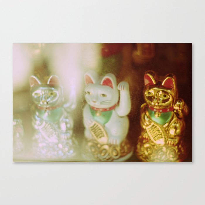 Lucky Cats Canvas Print