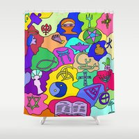fantasy Shower Curtains featuring Fantasy by Linda Tomei