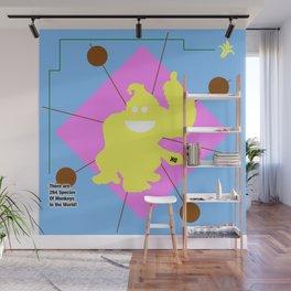 Donkey Kong Fun Color Splash Nintendo Shirt Wall Mural