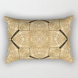 Victorian Art Deco Medieval Pattern brown SB19 Rectangular Pillow