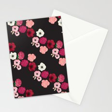 Black & Flowers Stationery Cards