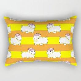 Golden Mr. Fluffs Rectangular Pillow