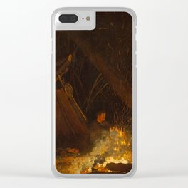 Camp Fire by Winslow Homer, 1880 Clear iPhone Case