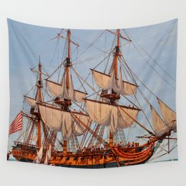 Revolutionary Painting of the Frigate Confederacy Wall Tapestry