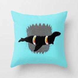 Sushi for Sharkie Throw Pillow