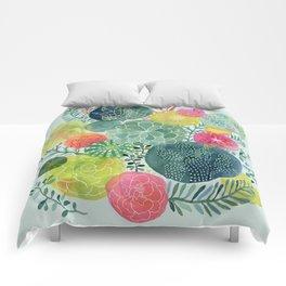 Succulent Circles Comforters