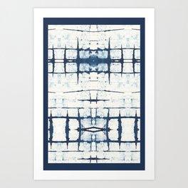 Faded Japanese Shibori Art Print