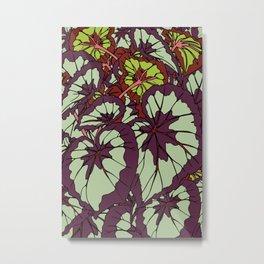 Rex Begonia Illustrated Print Metal Print