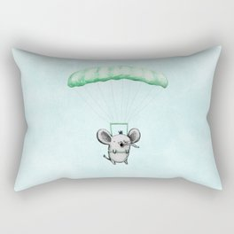 Cutie Parachuting Elephant Rectangular Pillow
