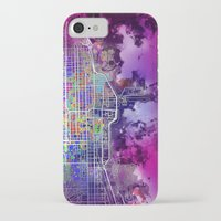 chicago map iPhone & iPod Cases featuring chicago by Bekim ART