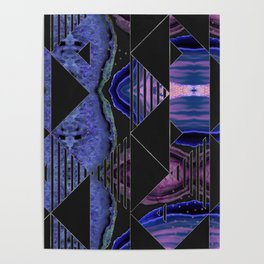 Agate Geode Textures Geometric Abstract  N2 Poster