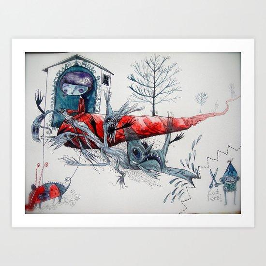 [picture of bad dream ] Art Print